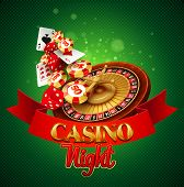foto of crap  - Casino background with cards - JPG