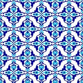 stock photo of eastern culture  - Seamless pattern design inspired by the Ottoman decorative arts - JPG