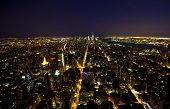 pic of empire state building  - Aerial view of lower Manhattan at night taken from the Empire State Building  - JPG