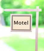 picture of motel  - Signboard with text Motel - JPG
