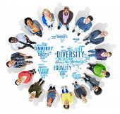 stock photo of racial diversity  - Diversity Ethnicity World Global Community Concept - JPG