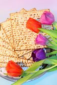 stock photo of piety  - jewish holiday of Passover and its attributes - JPG