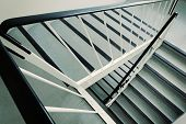 stock photo of ugly  - Old ugly and dirty staircase of a 1960s apartment building - JPG