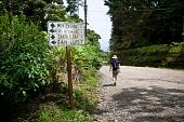 Hiker Near Sign In Santa Elena Costa Rica