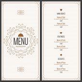 stock photo of restaurant  - Restaurant menu design - JPG
