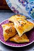 picture of samosa  - samosa on a plate - JPG