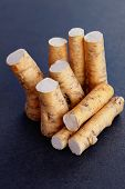 foto of grated radish  - horseradish root and grated horseradish - JPG