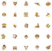 picture of wild west  - Wild West icon set - JPG