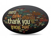 stock photo of appreciation  - Concept or conceptual abstract thank you word cloud in different languages or multilingual for education or thanksgiving day - JPG