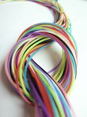 stock photo of node  - lot of rope to form a color node - JPG
