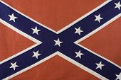 stock photo of confederation  - cloth isolated four x five confederate battle flag - JPG