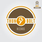Logo, badge,label, sticker, emblem, print and logotype elements for recording studio or sound produc poster