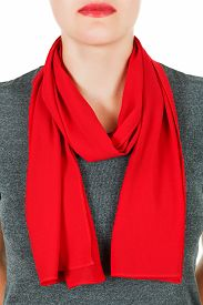 image of red-necked  - Silk scarf - JPG