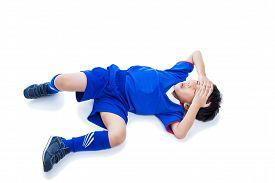 image of forehead  - Sports injury - JPG