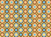 Pattern of colorful circles. Vector