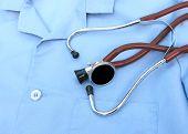 Stethoscope On Doctors Lab Coat