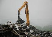 Crane In Scrap Yard