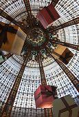 France. Paris. Dome Shop Lafayette