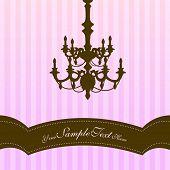 Lámpara de fondo rayas rosa con lugar para su texto.