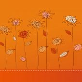 Illustration with flowers. Vector