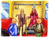 Freundlichen Boys bei Bushaltestelle