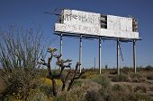 Decaying Desert Sign