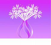 Pink Sparking Fireworks Vase