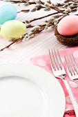Festive Easter Table Setting