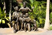 Sculpture of Steve Irwin family at Australia Zoo