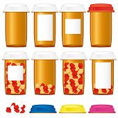 Prescription medicine bottles
