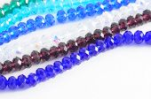 Crystal Beads On White Background