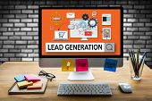 Lead Generation  Lead Generation Business Funnel , Sales Funnel, Marketing Process Lead Generation, poster