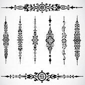 Vector ornamentos de fronteira