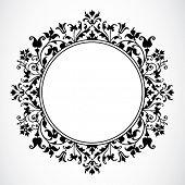 Vektor Floral Kreis Frame