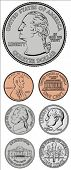 pic of copper coins  - Set of vector coins - JPG