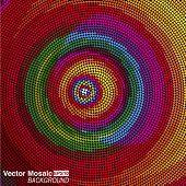 vector mosaico - círculos concêntricos