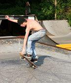 Skateboarder Landing Trick