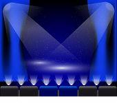 Постер, плакат: Стадии огни синего цвета