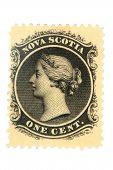 Vintage Canadian Postage Stamp, Issued 1860-63.