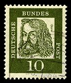 GERMANY-CIRCA 1961:A stamp printed in Germany shows image of Albrecht Durer was a German painter, pr