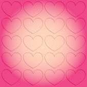 Background Picture On The Theme Of Love And Valentines Day. The Symbol Of Love Soars To The Top poster