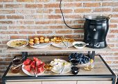 Breakfast At Hotel. Breakfast On The System all Included . Breakfast Buffet Concept, Breakfast Tim poster