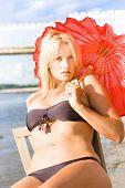 Sunlit Beach Hottie