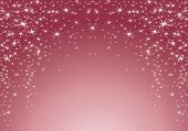 pink background with stars. Christmas theme