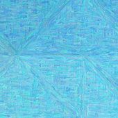 Blue Impressionism Impasto In Square Shape Background Illustration poster