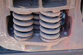 Railroad flatcar suspension springs