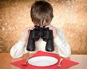 Child With Binoculars