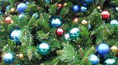Christmas Tree with Color Bulbs