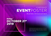 Abstract Vector Dynamic Background. Futuristic Poster For Corporate Meeting, Online Courses, Master  poster