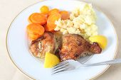 Lemon Chicken Meal On Plate